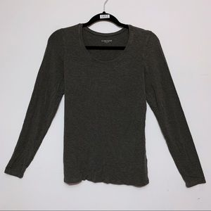 Eileen Fisher Charcoal Grey Long Sleeve Tee